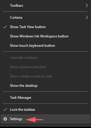 How to Auto hide Taskbar in Windows 10