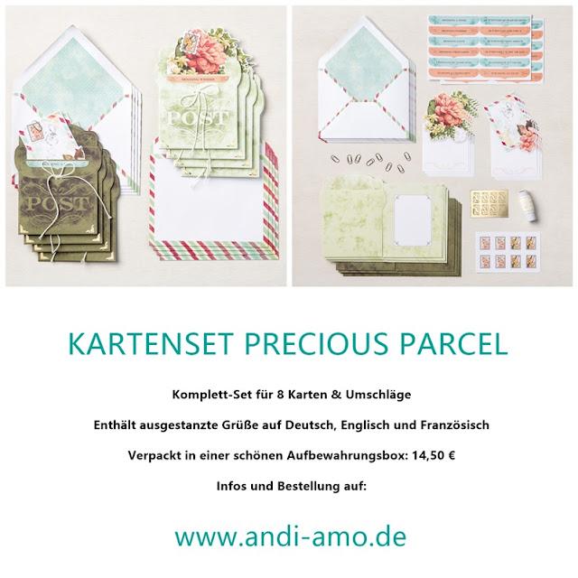 Stampin Up Kartenset Precious Parcel Produktlinie