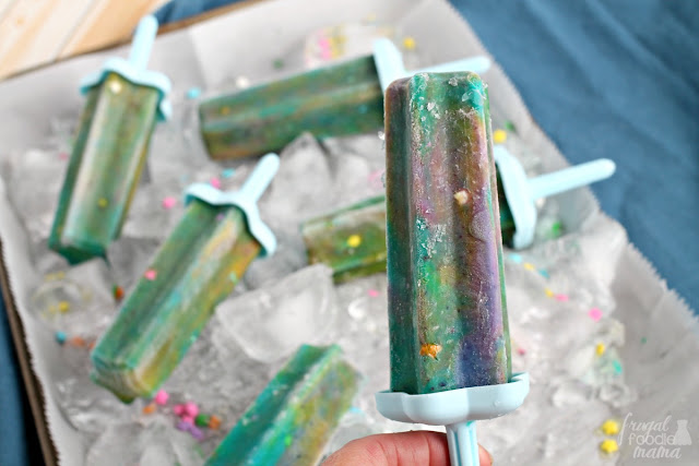 These magical Unicorn Yogurt Pops are the perfect frosty & healthy treat for back to school.