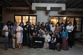 Group photo of guests at the Dining in the Dark event. Image courtesy: FB page of Dining in the Dark Bhutan