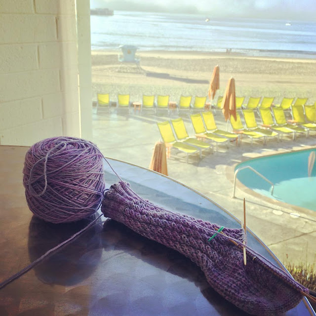 Knitting on the Beach