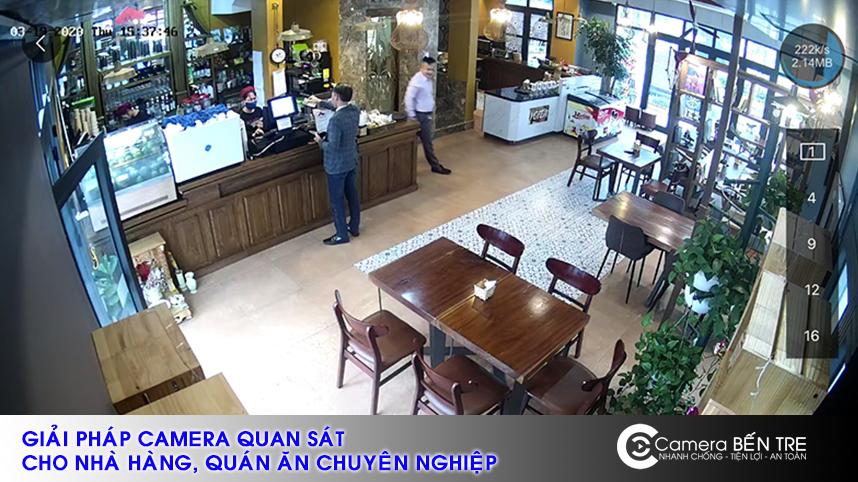 Đơn vị lắp đặt camera cho nhà hàng, quán ăn uy tín tại Bến Tre