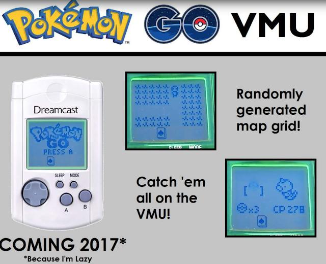 Modder adapta Pokémon GO a la VMU de la Dreamcast