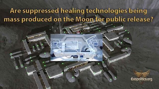 ¿Se están produciendo en masa en la Luna tecnologías curativas suprimidas para su difusión pública?
