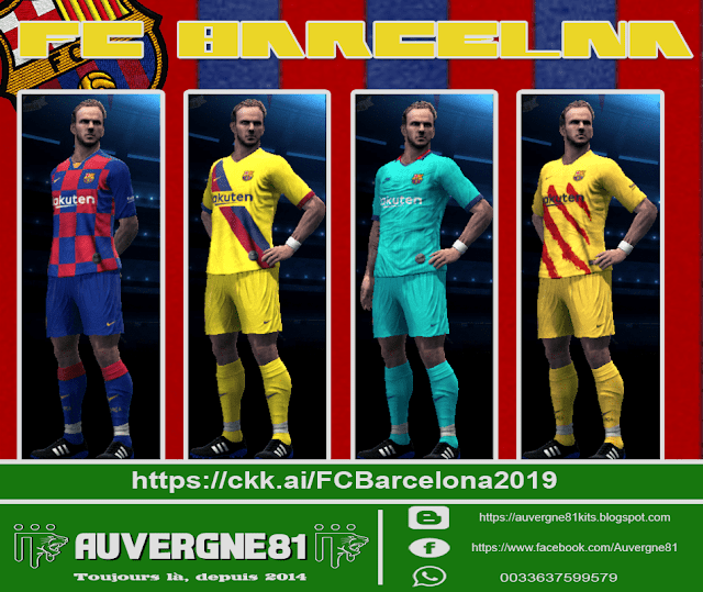 cheap for discount 3456c c6813 PES 2013 Kits FC Barcelona Season 2019/2020