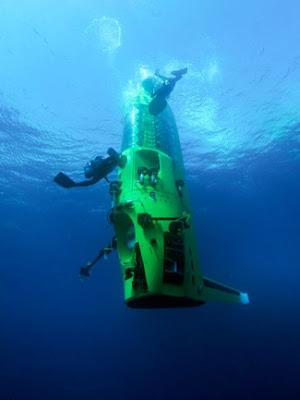 deepsea challangerin yüzeye çıkış anı