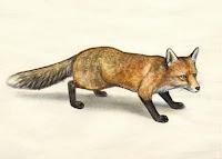 latvian folklore, latvian mythology, latviešu folklora, latviešu mitoloģija, capital r, 2018, drawing, fox, lapsa