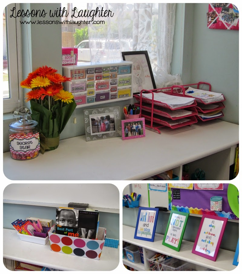 Classroom tour lessons with laughter - Classroom desk organization ideas ...