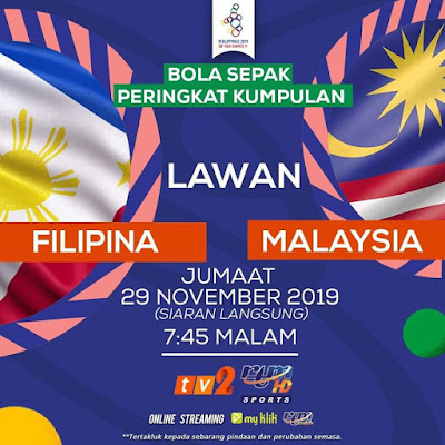 Live Streaming Malaysia vs Philippines (SEA GAMES) 29.11.2019
