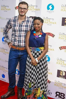 Tosyn Bucknor with white husband