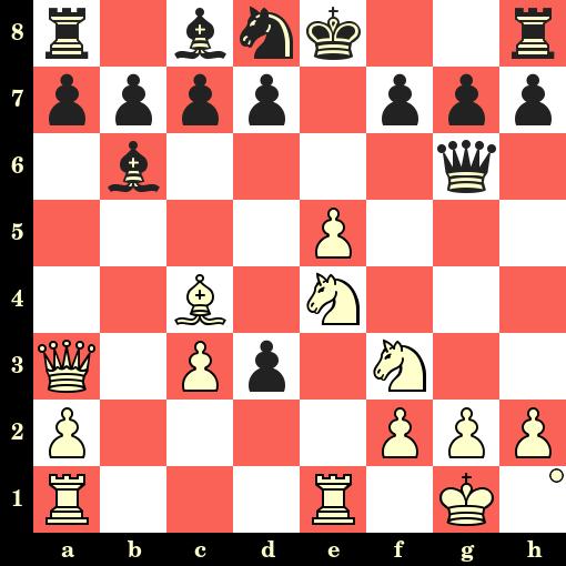 Les Blancs jouent et matent en 4 coups - Adolf Anderssen vs Samuel Rosenthal, Vienne, 1873