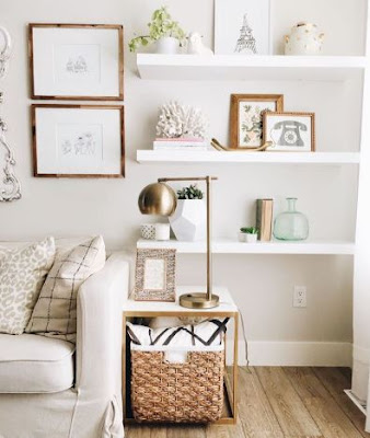 Easy Tips Install Shelves For Living Room Wall