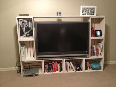 painel de tv rack para a sala de caixotes de feira