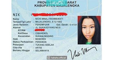 10 Editan 'KTP Artis Dunia' ala Orang Indonesia Ini Kocah Parah