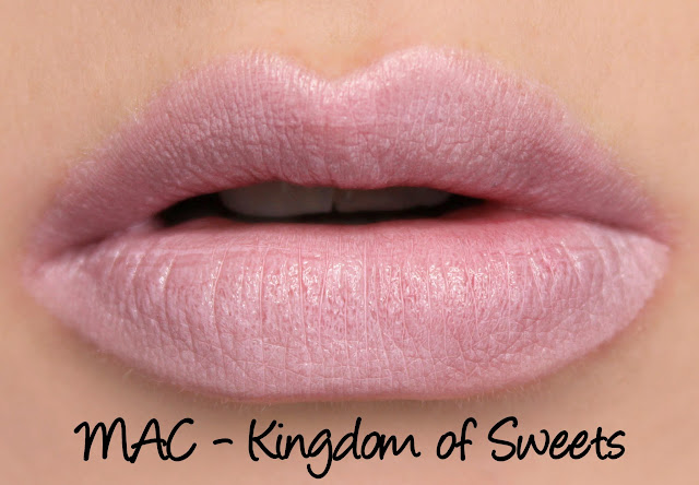 MAC Kingdom of Sweets lipstick swatches & review