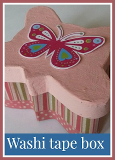 How to make a washi tape gift box