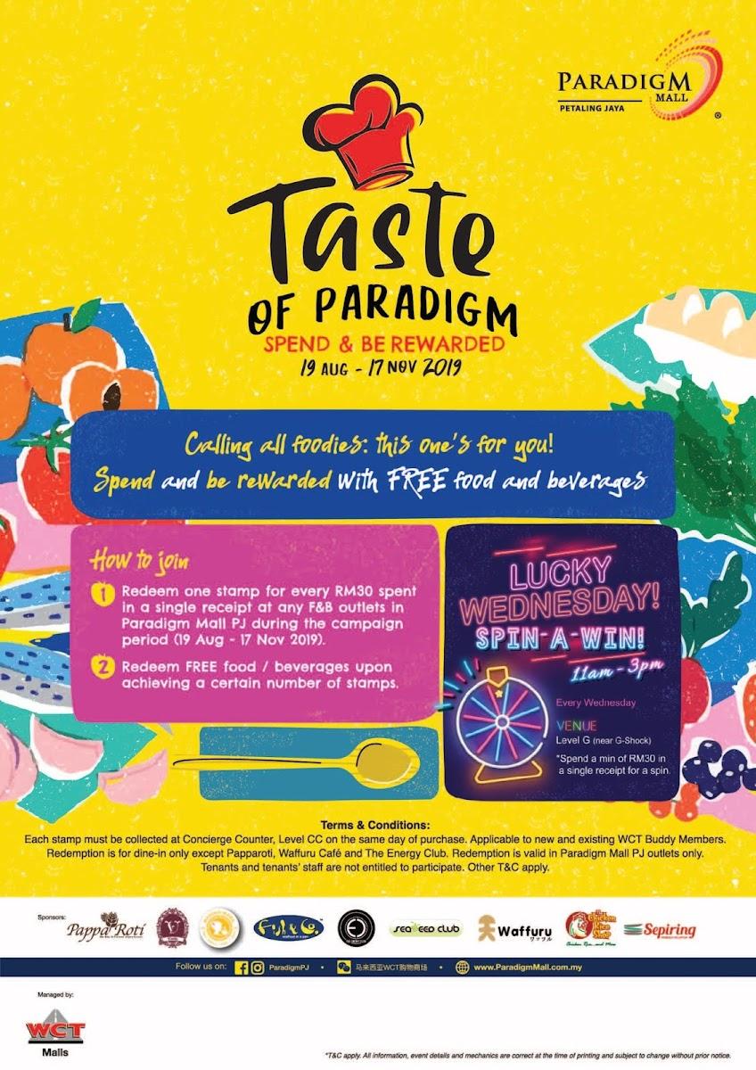 Taste of Paradigm Campaign 2019