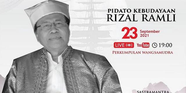 Tokoh Rizal Ramli akan Sampaikan Pidato Kebangsaan Hari Kemaritiman Nasional