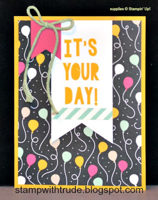Its My Party, Stampin Up, Birthday card, Tuesday Tutorial, Trude Thoman, Pop Up card, Spring Occasions 2016
