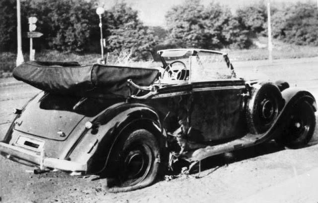 HHhH-Heydrich's car after attack