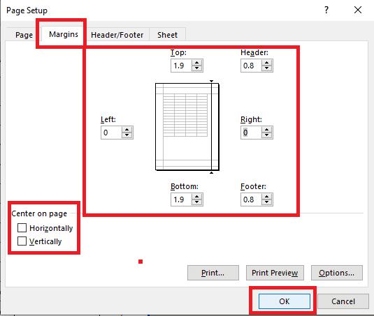 एक्सेल में प्रिंट सेटिंग कैसे करे। excel print Setting and Setup | Page Break Preview |