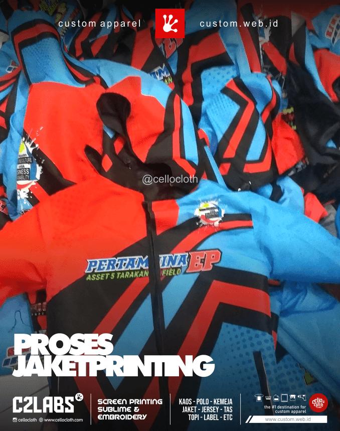 Proses Jahit Jaket Full Printing - Konveksi Jaket Printing Jogja