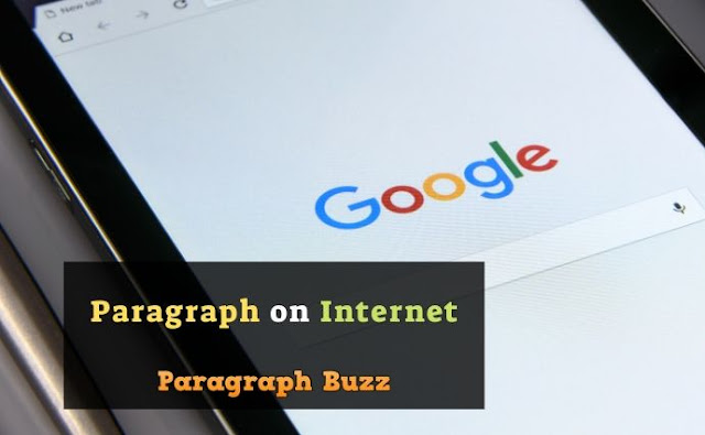 Paragraph on Internet