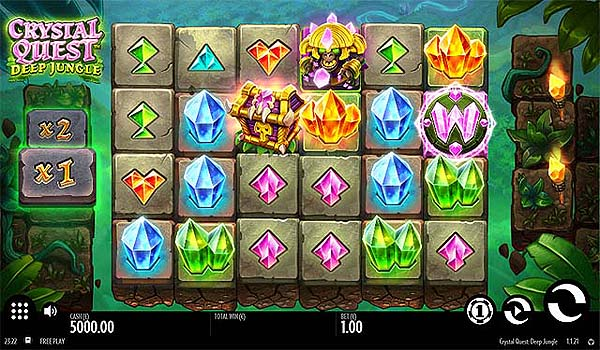Main Gratis Slot Indonesia - Crystal Quest Deep Jungle (Thunderkick)
