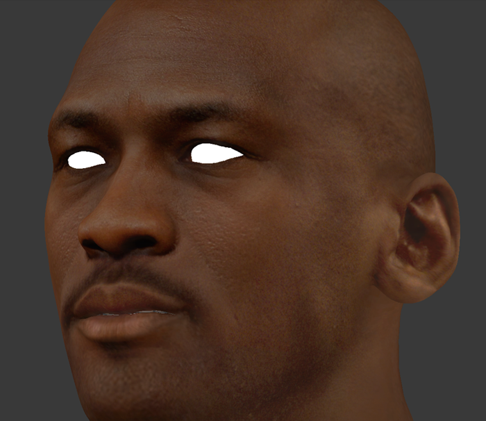NBA 2K14 Michael Jordan HD Face Texture Mod