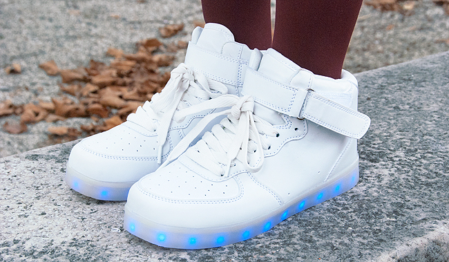 light up shoes, reebok, voegele shoes