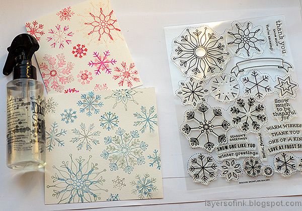 Layers of ink - Snowflake Builder Card Tutorial by Anna-Karin Evaldsson. Simon Says Stamp Snowflake Builder.