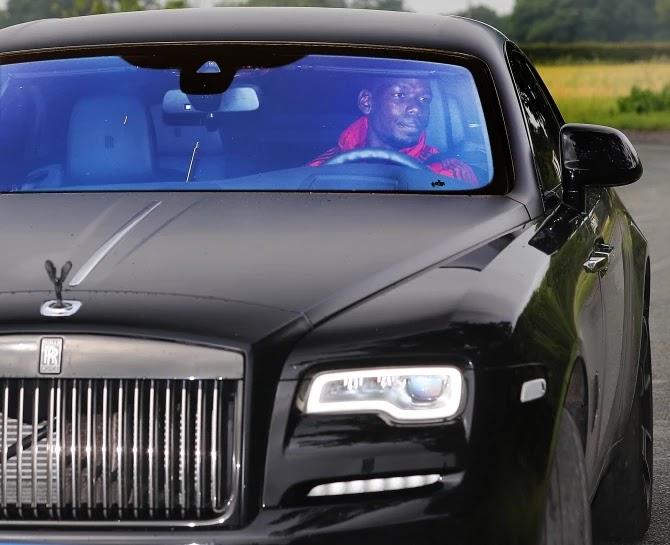 Man Utd Star Paul Pogba's Rolls-Royce Seized By Police (Photos)