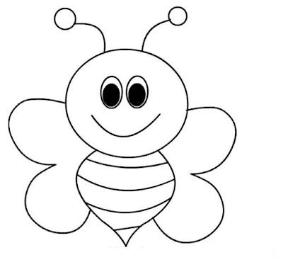 Gambar Mewarnai Lebah - 2