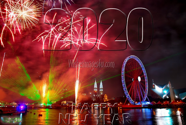 Happy New Year 2020 Beautiful  Firework Wallpapers Download Free - New year 2020 Fireworks Desktop Wallpapers Download Free In HD