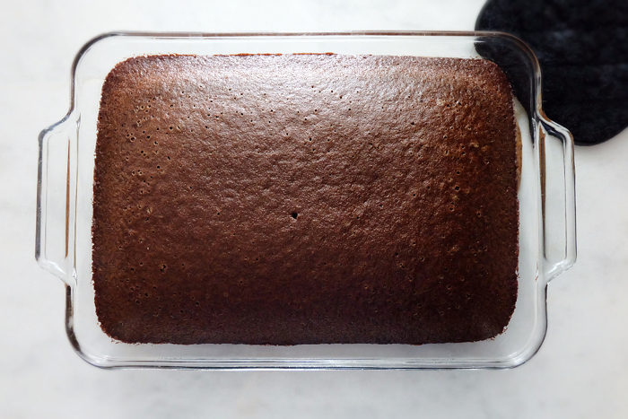 baked quick chocolate cake