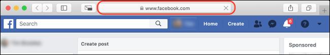 """تحقق من وجود """"Facebook.com"""" في شريط العناوين الخاص بك"""