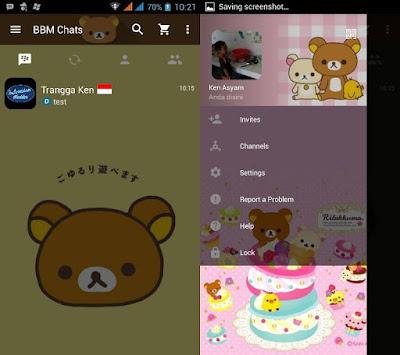 BBM MOD Rilakkuma V3.0.0.18 Apk Terbaru No Ads (Tanpa Iklan)