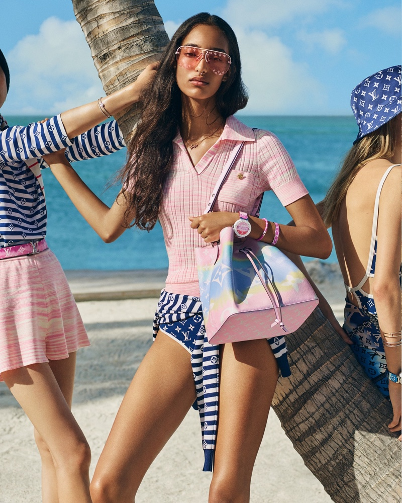 Mona & Klara Hit the Beach in Louis Vuitton 'LV Escale' Campaign