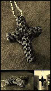 Crown sinnet paracord circle cross