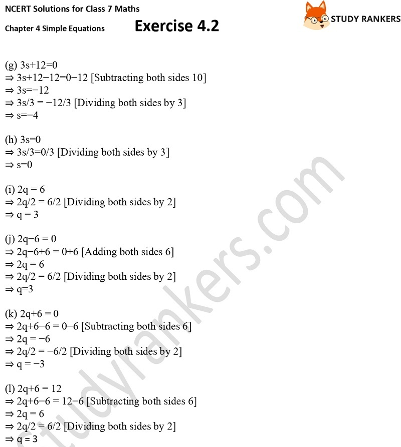 NCERT Solutions for Class 7 Maths Ch 4 Simple Equations Exercise 4.2 5