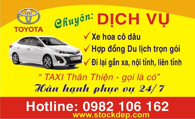 Mẫu Danh Thiếp Dịch vụ vận tải taxi xe khách