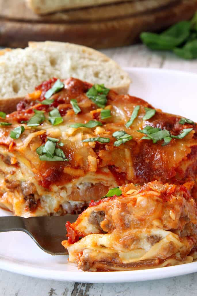 Gluten Free Lasagna #vegetarian #breakfast #food #lasagna #mushroom