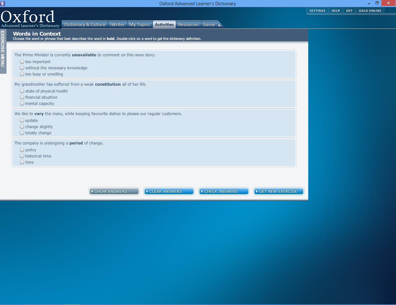Concise Oxford English Dictionary (free version) download