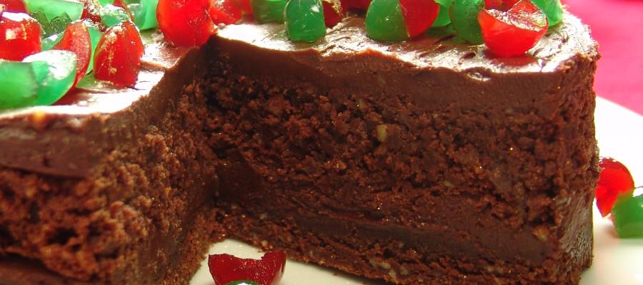 Torta  Navideña con Marrasquinos