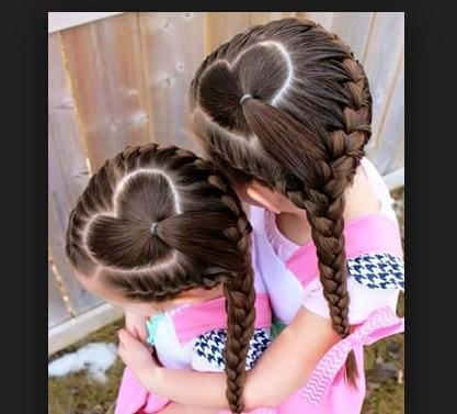 Kepang Rambut Gambar Lucu