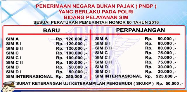 biaya pembuatan SIM online