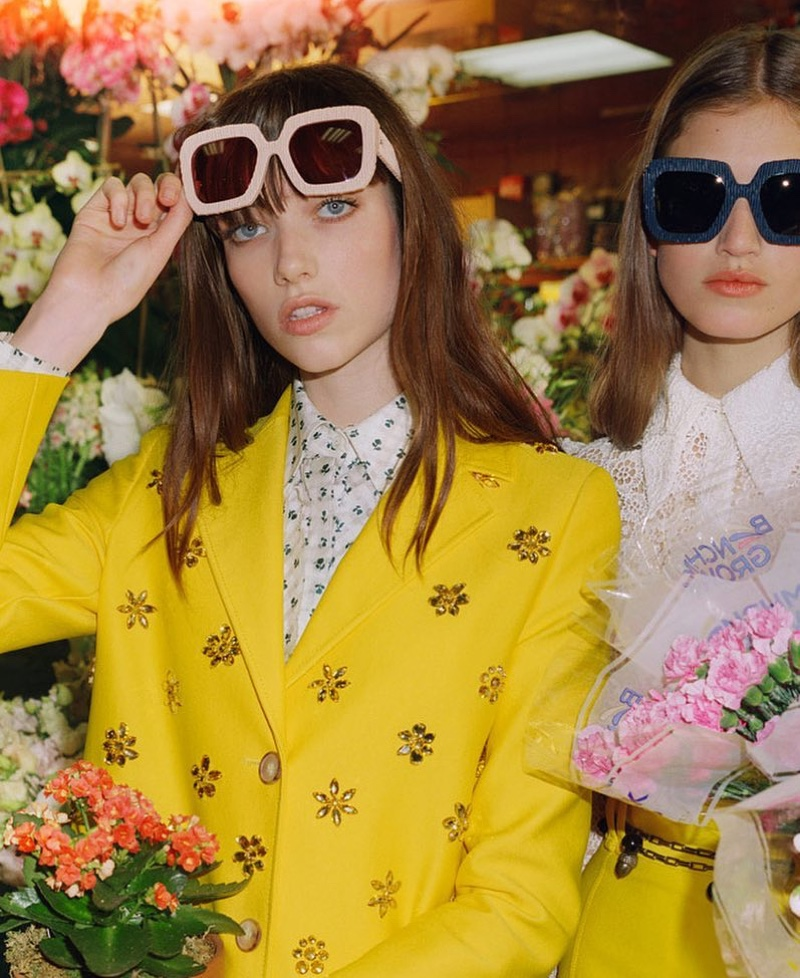 Grace Hartzel and Altyn Simpson star in Carolina Herrera spring 2019 advertising campaign