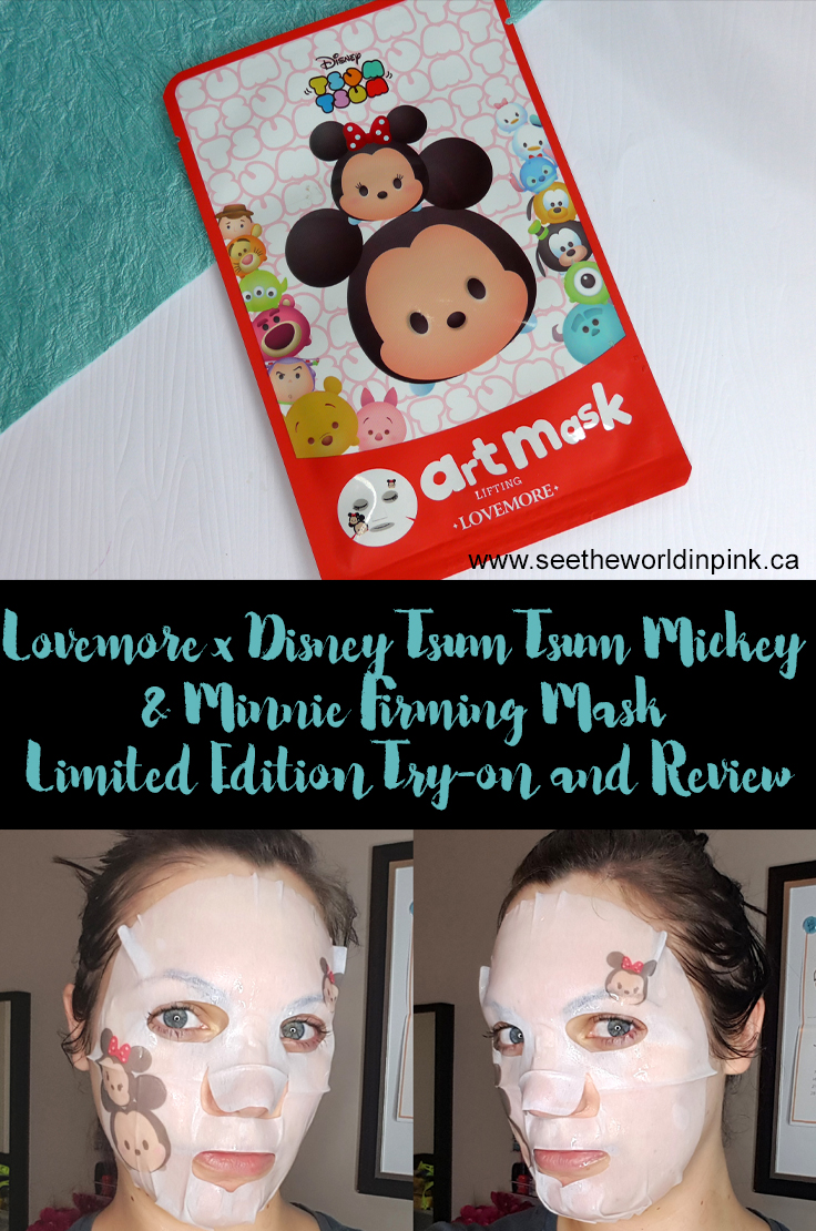 "Mask Wednesday - Lovemore x Disney Tsum Tsum ""Mickey & Minnie Firming Mask (Limited Edition)"" Review"