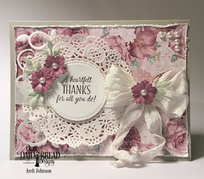 ODBD Products:  Stamp/Die Duos: King of My Heart  Custom Dies: Pierced Circles, Bitty Blossoms, Foliage & Leaves  Paper Collection: Romantic Roses