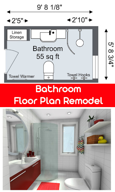 Bathroom Floor Plan Remodel idea